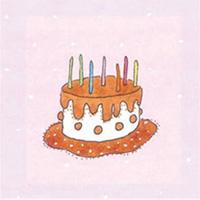 Kort Axel, Choklad tårta på rosa