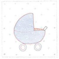 Doris kort, Barnvagn ljusblå