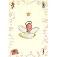 Kort med kuvert, Ängel i moln