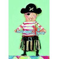 Kort med kuvert, Pirat