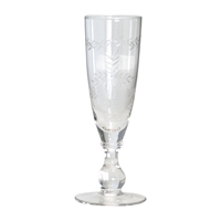 Champagne glass with cutting, Clear