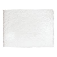 Överkast Plain white w/white stitches