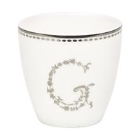 Mini lattemugg G, Silver