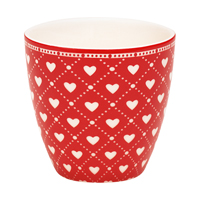 Mini lattemugg Haven, Red