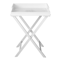 Wood tray table Stephanie, White