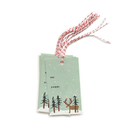 Set med 10 st Rudolph Gift Tags
