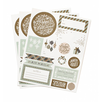 Etiketter, Holiday Wonderland Stickers & Labels