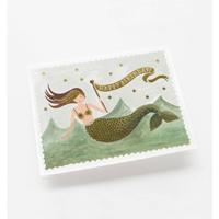 Kort med kuvert, Vintage Mermaid Birthday