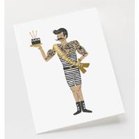 Kort med kuvert, Strongman Birthday