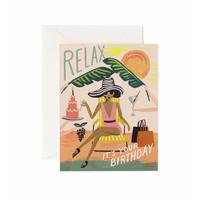 Kort med kuvert, Relax Birthday