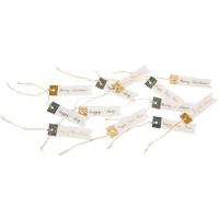 Christmas Paper Tags, 12pcs/pk