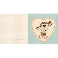 Kort med kuvert, Bambi Blue