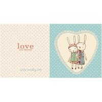 Kort med kuvert, Bunnies in Love
