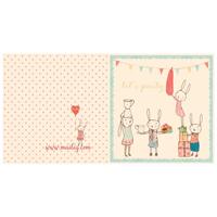 Kort med kuvert, Bunny Party