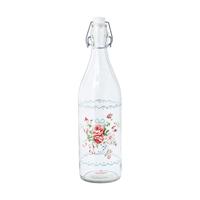 Glass bottle Abelone, White