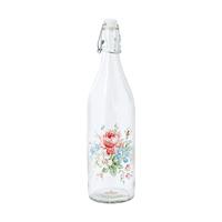 Glass bottle Marie, White