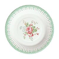 Paper plate Abelone, Mint 12 pcs