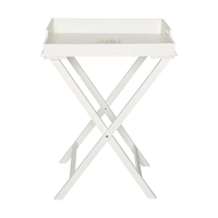 Wood tray table Abelone, White