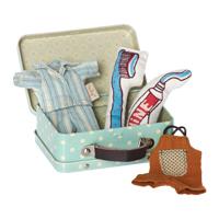 Väska, Prickig inkl 2 set kläder