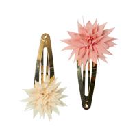 Set med 2 hårspännen, Dahlia Flower Clips Vanilla & Melon