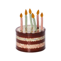 Cake box with birthday candles