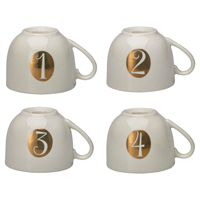 Candle holder set Advent, White 4 pcs