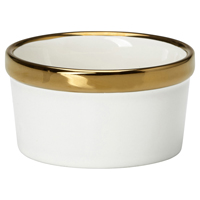 Ramekin, Gold rim