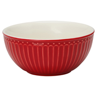 Cereal bowl Alice, Red