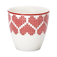 Mini lattemugg December, Red