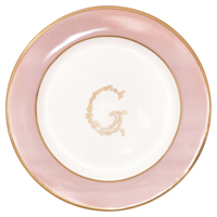 Liten assiette G, Pale pink