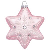 Star glass December, Pale pink