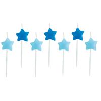 Tårtljus Stjärna, Ljusblå