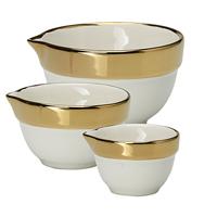 Measuring bowl Gold rim set of 3 pcs