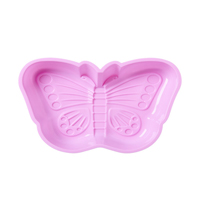 Butterfly Shaped Silicone Baking Mold, Pink