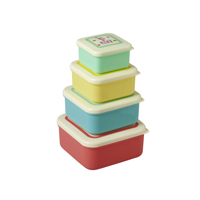 Small Foodboxes with Printed Lids in Assorted Colors