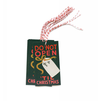 Set med 10 st Do Not Open ´Til Christmas Gift tags