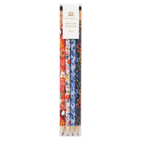 Set of 12 Floral Pencil