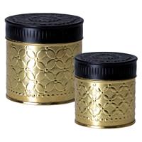 Set med 2 burkar, Gold