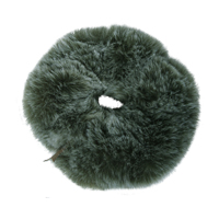 Plush Scrunchie, Dusty Green