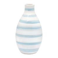 Vase Round Stripe, Mint
