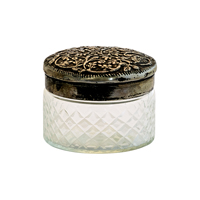 Jar w/metal lid