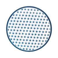 Melamine plate Lolly, Blue