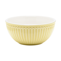 Cereal bowl Alice, Pale yellow