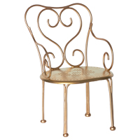 Romantic chair, Gold vintage