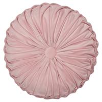 Kudde round w/ruffle, Pale pink