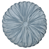 Kudde round w/ruffle, Pale blue