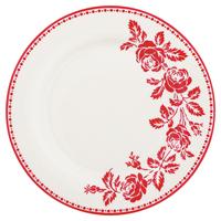 Assiette Fleur, Red
