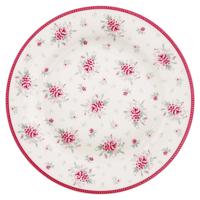 Assiette Flora, White