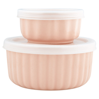 Ramekin Alice, Pale pink w/lid set of 2