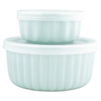 Ramekin Alice, Pale blue w/lid set of 2